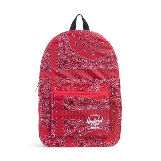 Herschel Supply Packable Daypack, Red Bandana