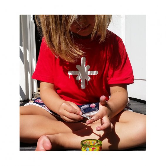 Highlights Kids Logo Tee, Red White