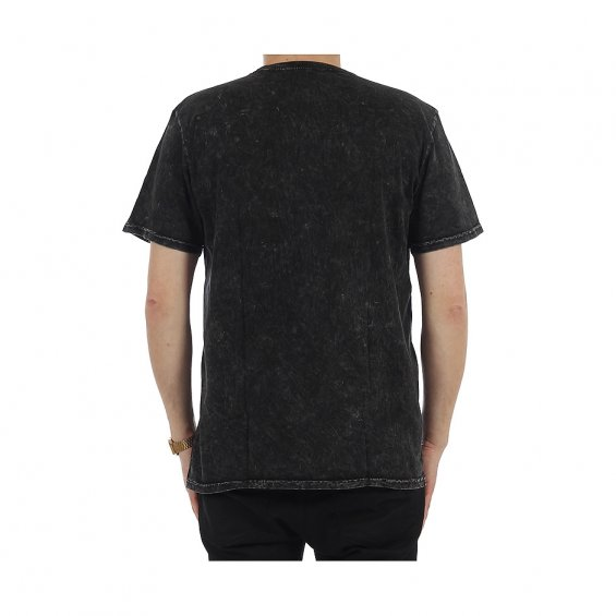 HUF Acid Wash Pocket Tee, Black