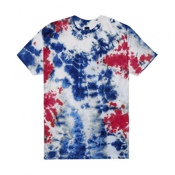 HUF Crystal Wash Script Tee Sp16, Red Blue