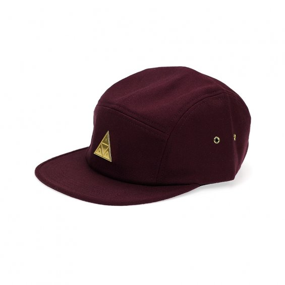 HUF Metal Triple Triangle Volley 5-Panel, Burgundy