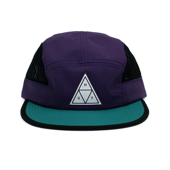 HUF Scout Side Mesh Volley 5-Panel, Eggplant