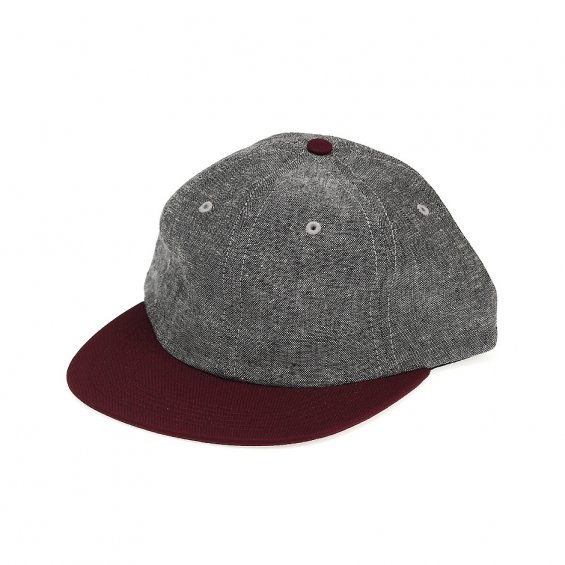 HUF Unmarked 6-Panel, Grey Burgundy