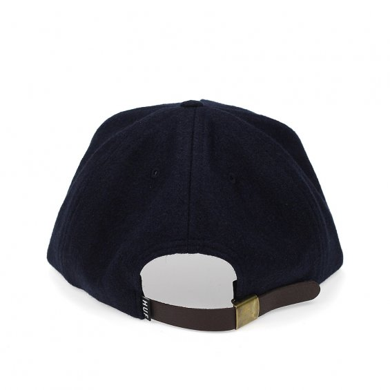 HUF Wool Script Snapback, Navy Brown