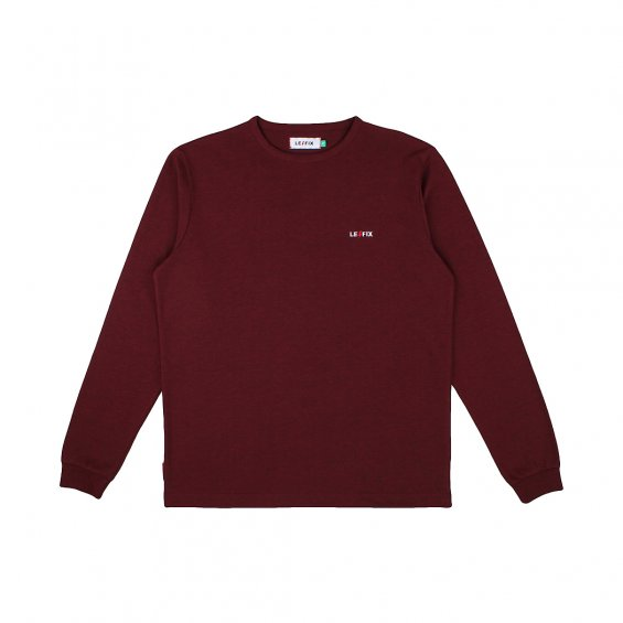 Le Fix LF Embroidery LS Tee, Maroon