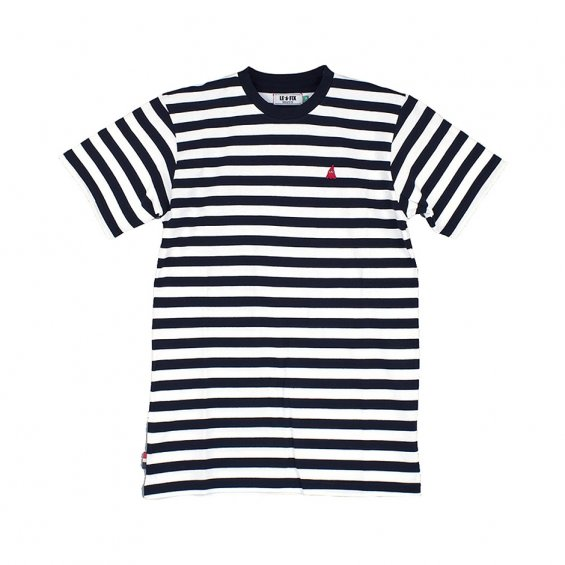 Le Fix Striped Tee, Black White