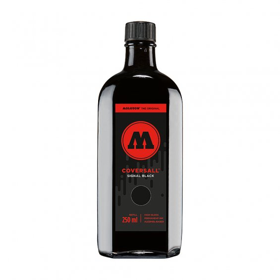 Molotow Coversall Cocktail Ink Refill 250ml, Signal Black