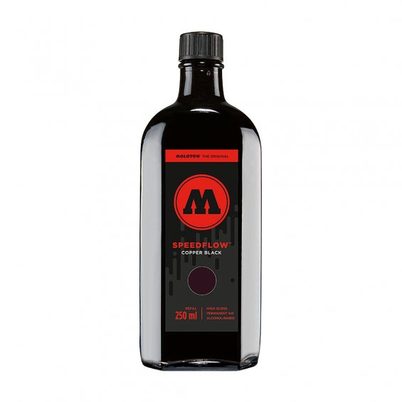 Molotow Speedflow Coctail Ink Refill 250ml, Copper Black