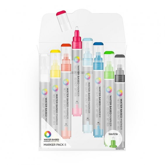 MTN Water Based Marker 3mm - 8 set
