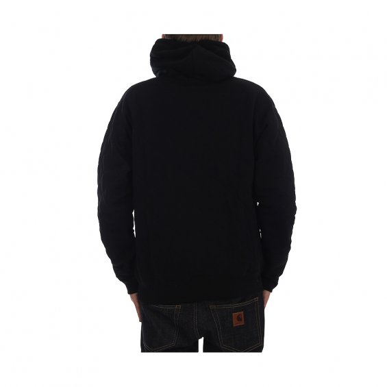 New Black Quilted Warrior Hood, Black