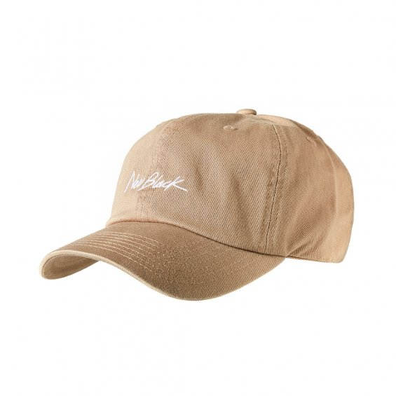 New Black Signature Baseball Cap, Khaki
