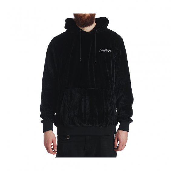 New Black Velour Hood, Black