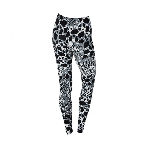 Nike Club Leggings AOP, Black White