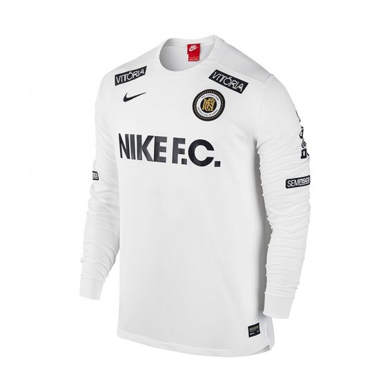 e286ec74c Nike FC LS Tee, White   Highlights