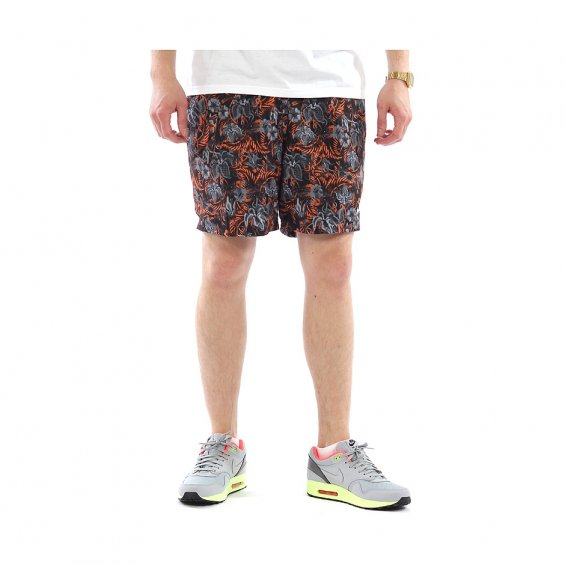 Nike Flow Shorts AOP Hawaii, Grey Orange