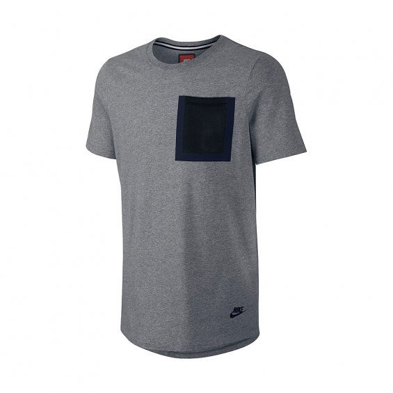 Nike Hypermesh Pocket Tee, Carbon Heather