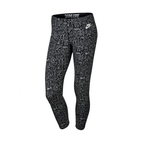 Nike Leg-A-See Cropped AOP Leggings, Black