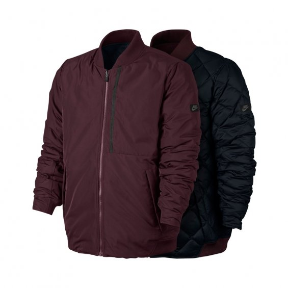 Nike Modern Down Fill Jacket, Maroon Black