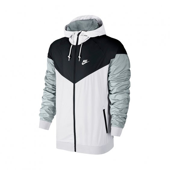 Nike Windrunner, White Black Grey
