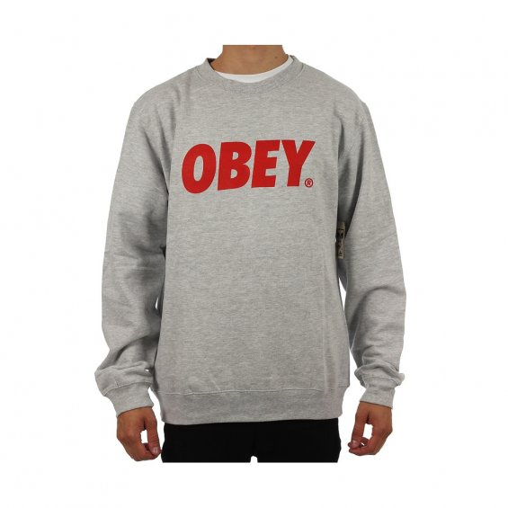 Obey Font Crew Heather grey
