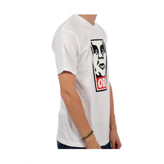 Obey Icon Face Tee, White