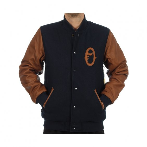 Obey The O Varsity Jacket, Navy