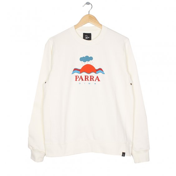 Parra Dise Crewneck Sweater, Natural