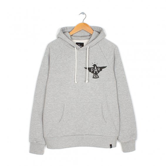 Parra Jackdaw Logo Hooded Sweater, Heather Grey