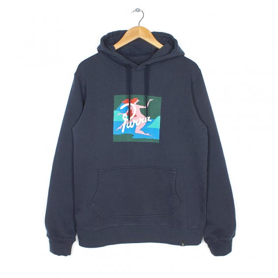 Parra Lagoon Hooded Sweater, Navy Blue