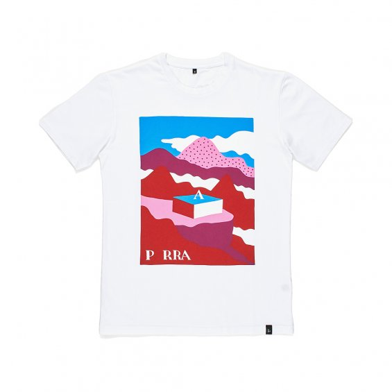 Parra Lost City Box T-shirt, White