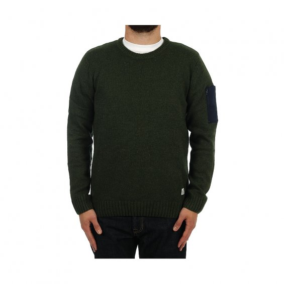 Penfield Ralston Knitted Vneck Sweater, Lichen