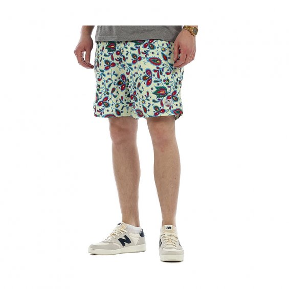 Penfield Seal Swimmer Plain Shorts, Ecru Floral