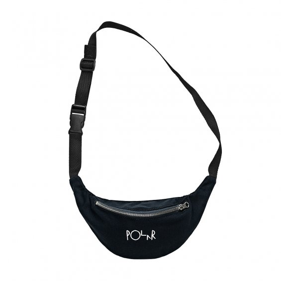 Polar Skate Script Logo Hip Bag, Black