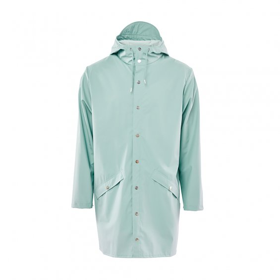 Rains Long Jacket, Dusty Mint