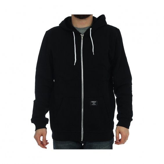 Rascals Basic Zip Hoody, Black