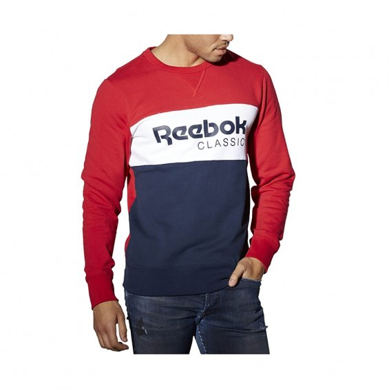 Reebok F Archive Stripe Crew, Red