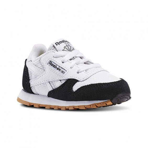 Reebok Kids CL Leath SPP ( AR2891 ), White Black