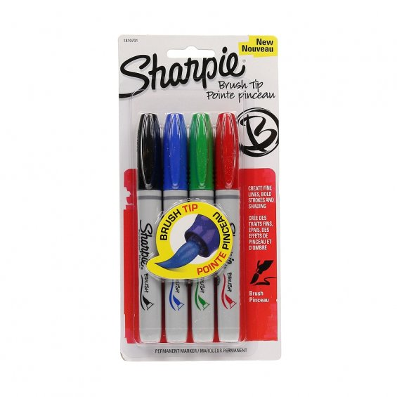 Sharpie Brush Tip, 4set
