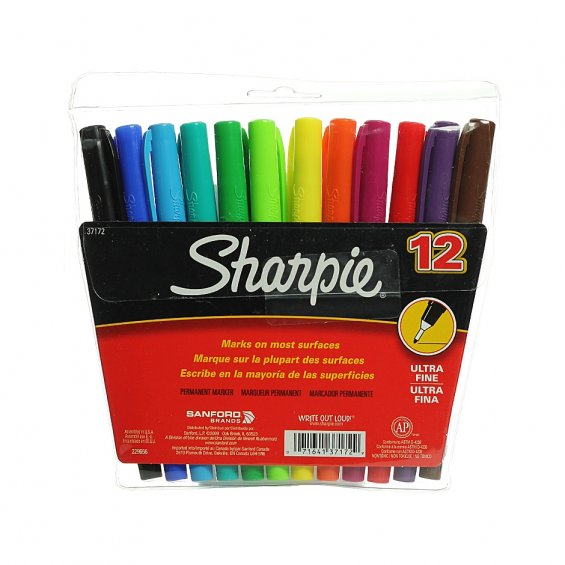 Sharpie Ultra Fine Point, 12set