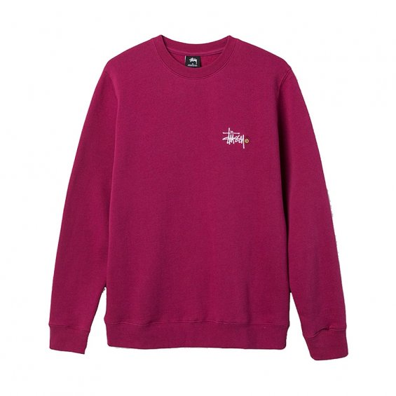 Stussy Basic Logo App. Crew, Grape