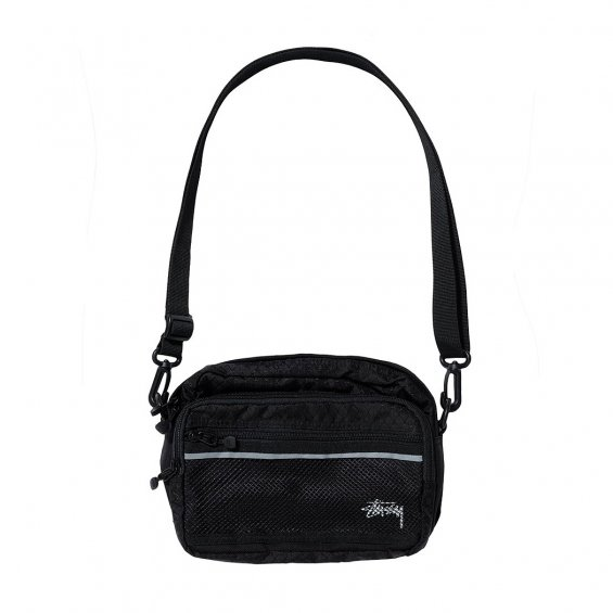 Stussy Diamond Ripstop Shoulder Bag, Black