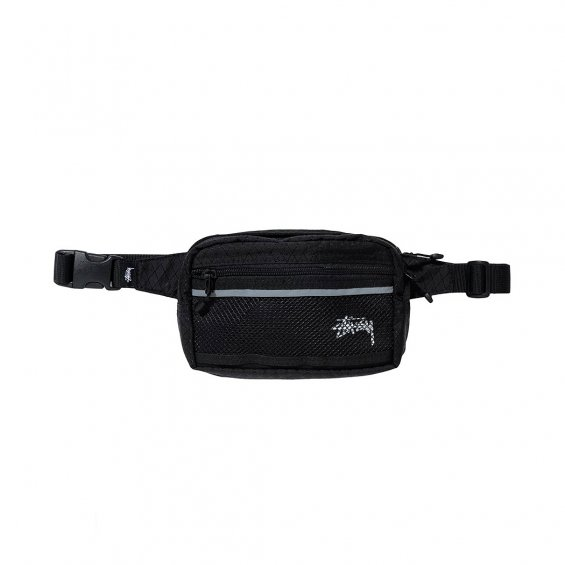 Stussy Diamond Ripstop Waist Bag, Black