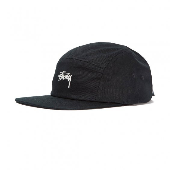 Stussy Stock Camp Cap, Black