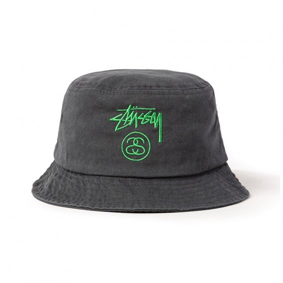Stussy Stock Lock Dye Bucket hat, Black