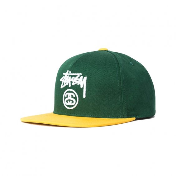 Stussy Stock Lock Snapback Su16, Green