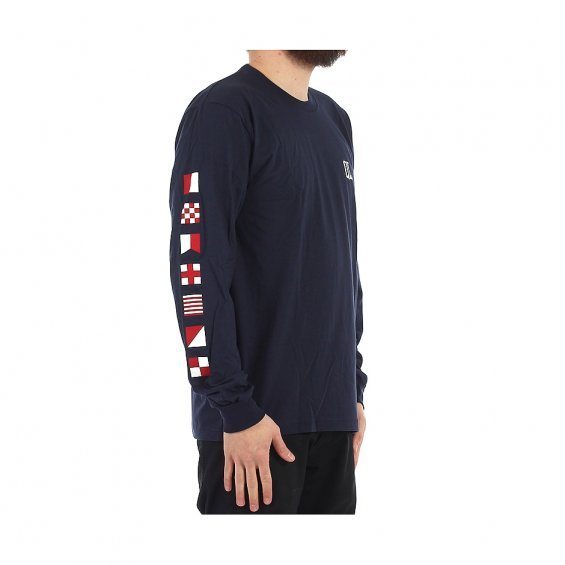The Quiet Life Flagship LS Tee, Navy