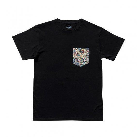 The Quiet Life Liberty Paisley Pocket Tee, Black