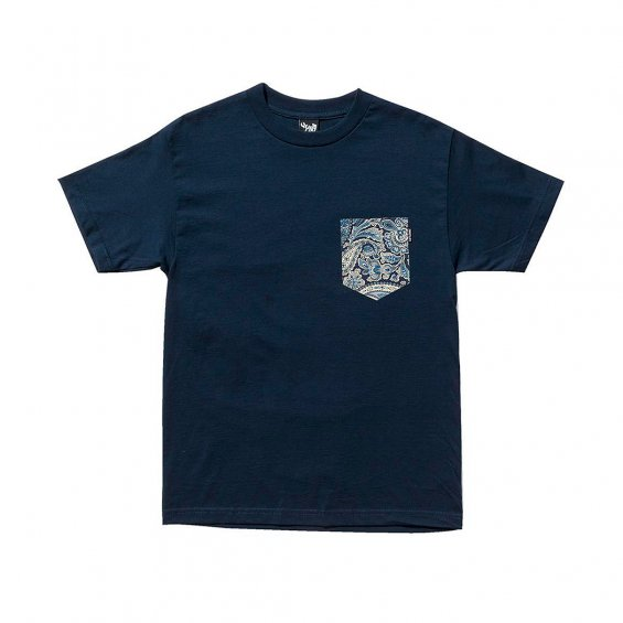 The Quiet Life Liberty Paisley Pocket Tee, Navy