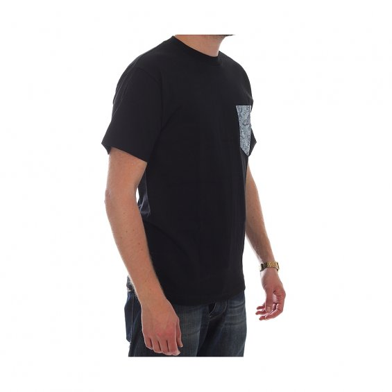 The Quiet Life Paisley Pocket Tee, Black