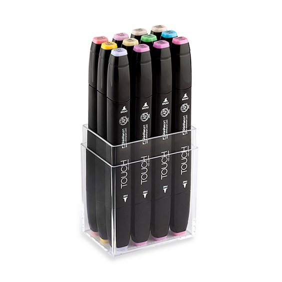 TOUCH Twin Marker Set 12, Pastel Colors